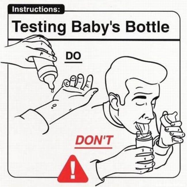 testing baby bottle