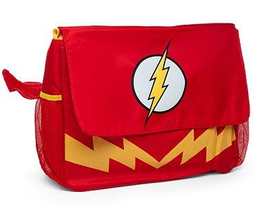 the flash diaper bag red