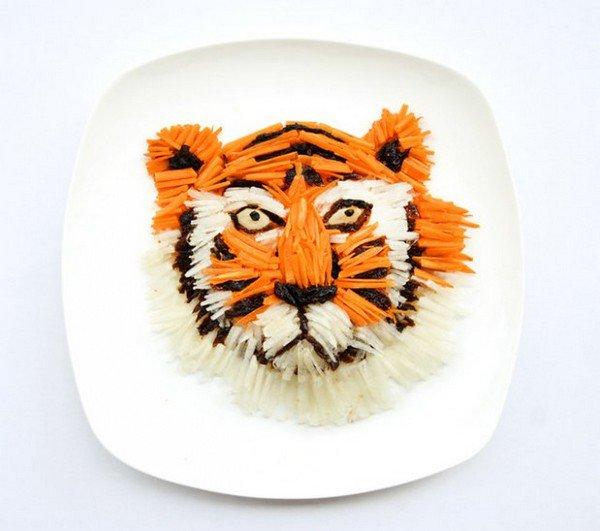 tiger food face
