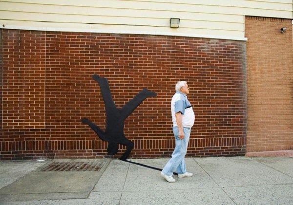 upside down man shadow