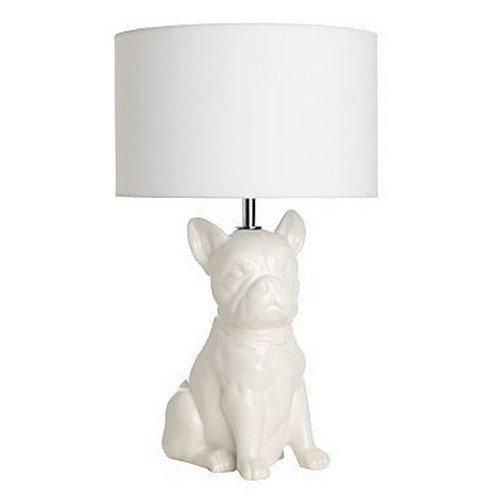 white dog lamp