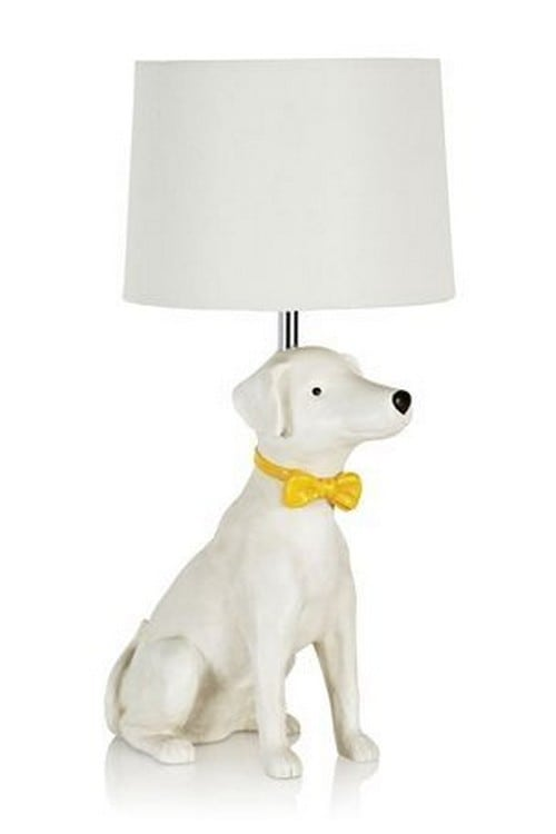 14 of the most awesome dog themed lamps around yellow bow tie dog lamp aloadofball Gallery