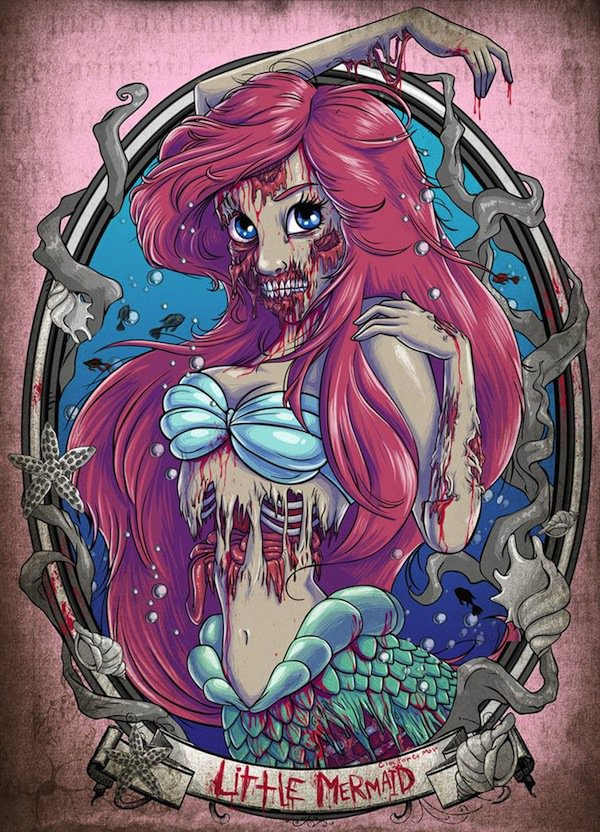 anime zombie princess: What Disney Princesses Would Look Like If They Were Zombies