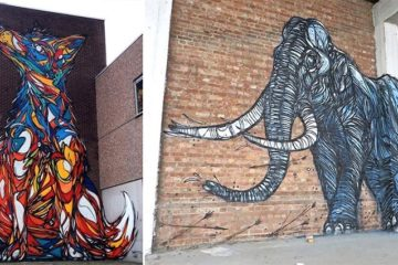 Animal street art dzia