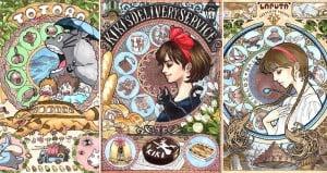 Art Nouveau Studio Ghibli