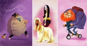 Artist Illustrations Of Strangers