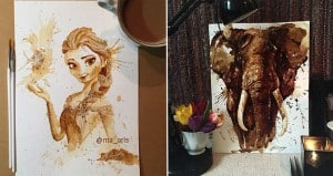 Artwork Using Coffee