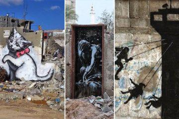 Banksy Gaza Controversial street art