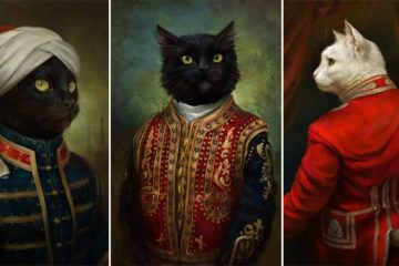 Royalty Cats Oil Paintings