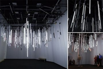 Chandelier Which Reacts To Radioactivity