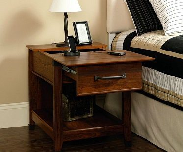 Charging Station End Table wood