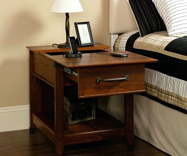 ... Charging Station End Table Wood