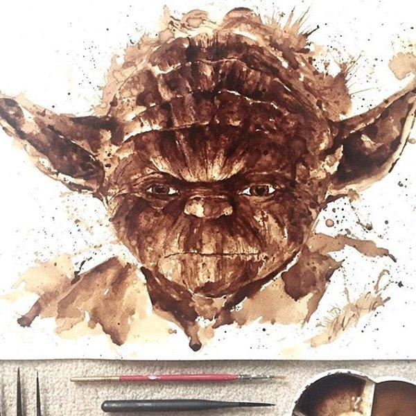 Coffee-Paintings-yoda