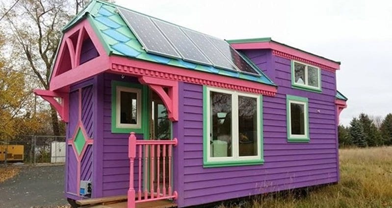 Colorful House step inside this colorful tiny house and you will be amazed at