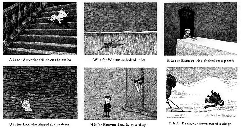 Edward Gorey Teaches Kids Theirs ABC's The Creepy Way In One