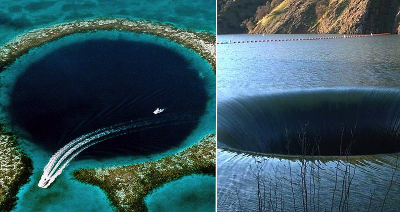 incredibly deep and scary holes that will send shivers