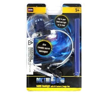Doctor Who Book Light And UV Pen tardis pack