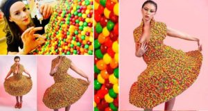 Dress Made From Skittles