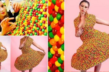 Dress Made From Skittles