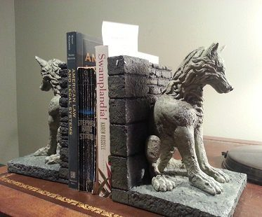 Game of Thrones Direwolf Bookends grey books