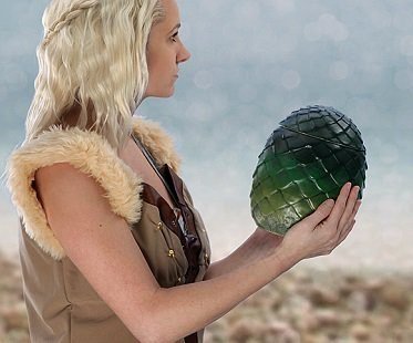 Game of Thrones Dragon Egg Canister green