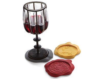 Game of Thrones Wax Seal Coasters houses wine