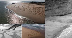 Sam Dougados Geometric Sand DrawingsGeometric Sand Drawings