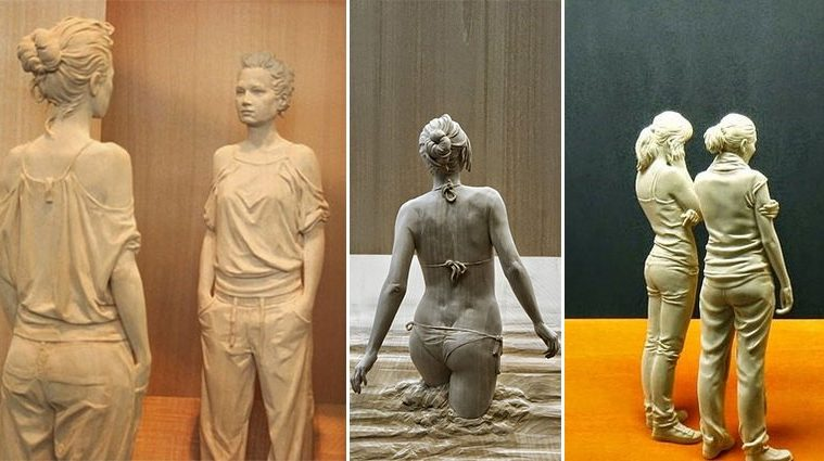 Hand-Carved Realistic Wooden Sculptures