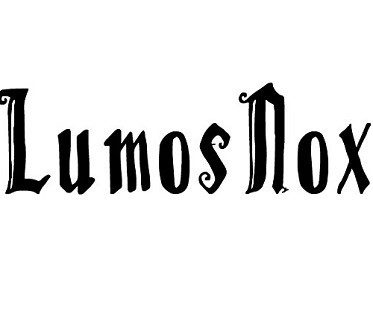 Harry Potter Lumos Nox Decal lightswitch