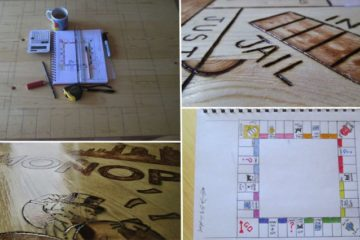 Kitchen Table Turned Into Monopoly Board