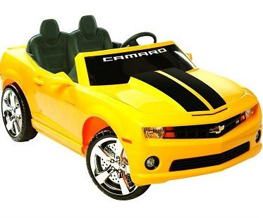 Mini Camaro Battery Car yellow