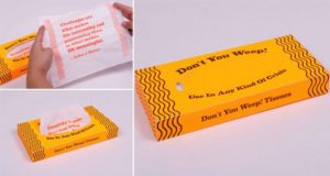 Don't You Weep Motivational Tissues