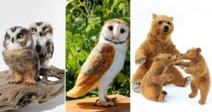Needle-Felted Animal Sculptures