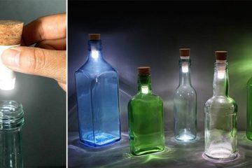 rechargable led cork bottle lamps