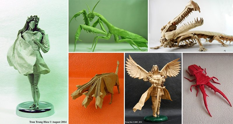 These Amazingly Detailed Origami Style Creations Are Awesome