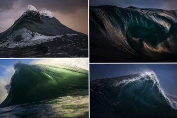 photographer Ray Collins freezes waves Look Like MountainsPhotographer Freezes Waves