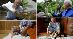 Man Lives Alone In A Radioactive Town To Look After Abandoned Animals