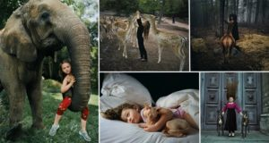 Robin Schwarttz Photographs Daughter with animals