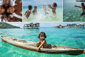 Sea Gypsy Children Bajau tribe of Borneo