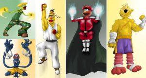Sesame Street Fighter Illustrations