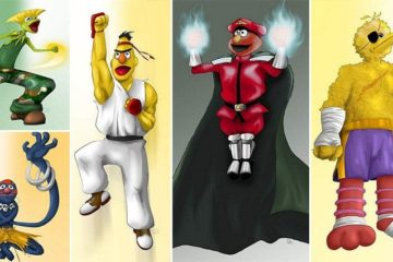 Sesame Street Fighter Illustrations