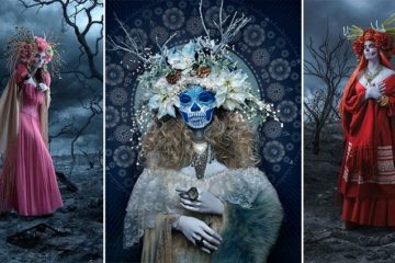Spooky Photo Series Las Meurtas The Mexican Day Of The Dead
