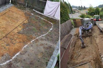 backyard swimming pond project
