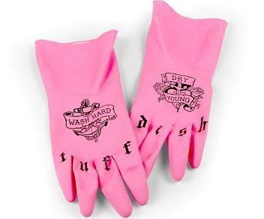Tattooed Dish Gloves pink