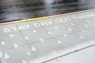 Water rain Activated Street Art