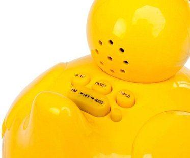 Wireless Waterproof Duck Speaker buttons
