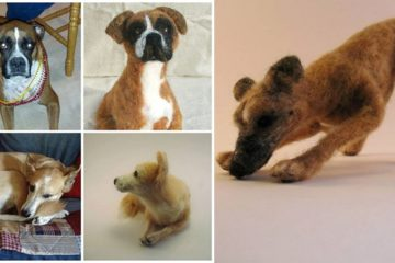 Wool Custom Dog Sculptures