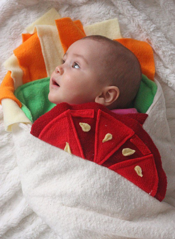 baby blanket looking left