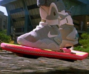 back to the future shoes hoverboard