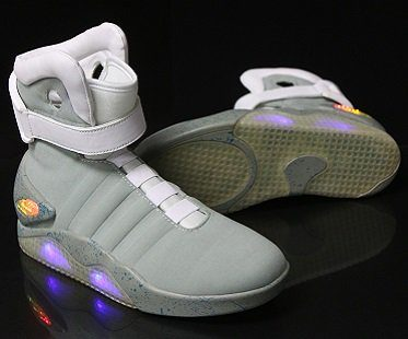 back to the future shoes light up